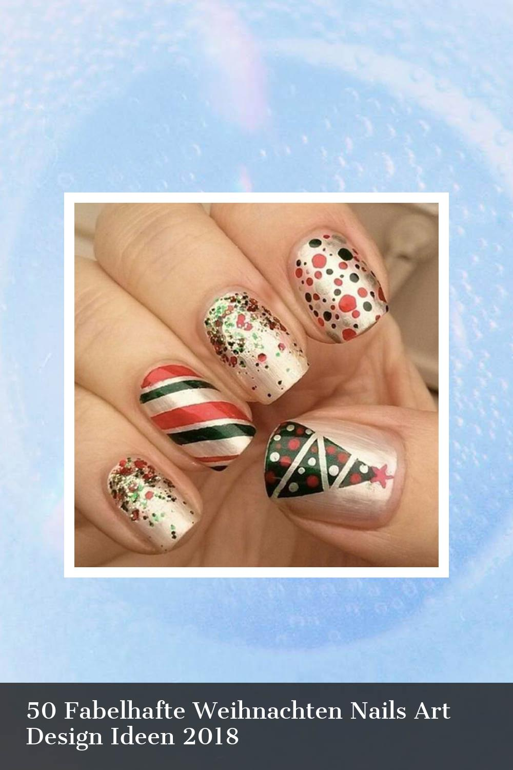 50 Fabelhafte Weihnachten Nails Art Design Ideen 2018 15