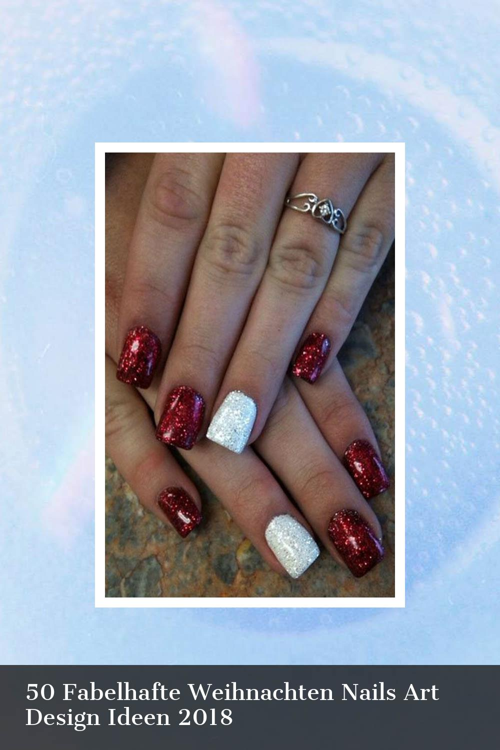 50 Fabelhafte Weihnachten Nails Art Design Ideen 2018 41