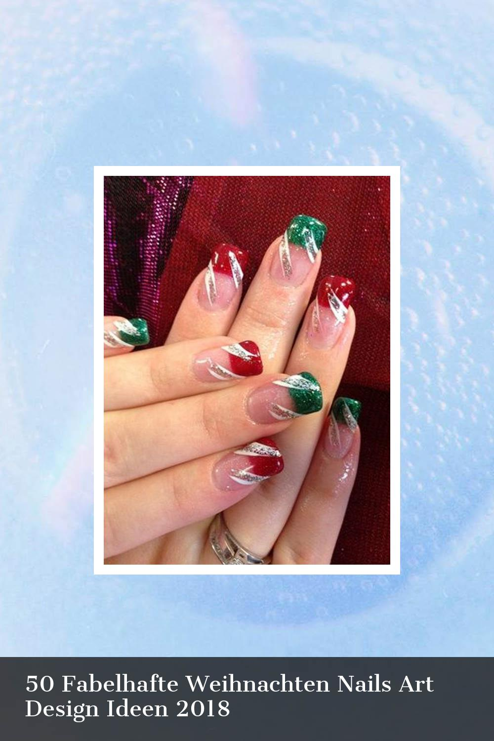 50 Fabelhafte Weihnachten Nails Art Design Ideen 2018 9