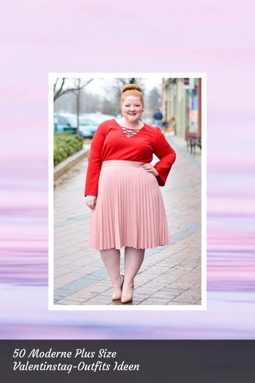 50 Moderne Plus Size Valentinstag-Outfits Ideen 11