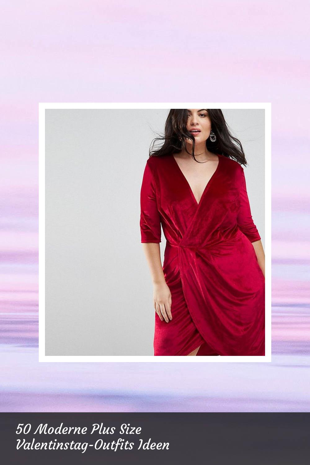 50 Moderne Plus Size Valentinstag-Outfits Ideen 15