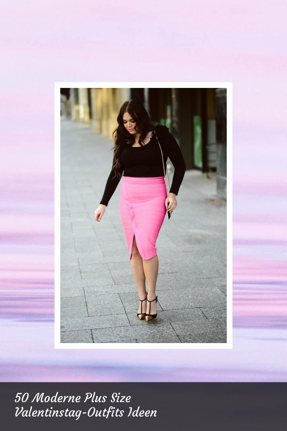 50 Moderne Plus Size Valentinstag-Outfits Ideen 19