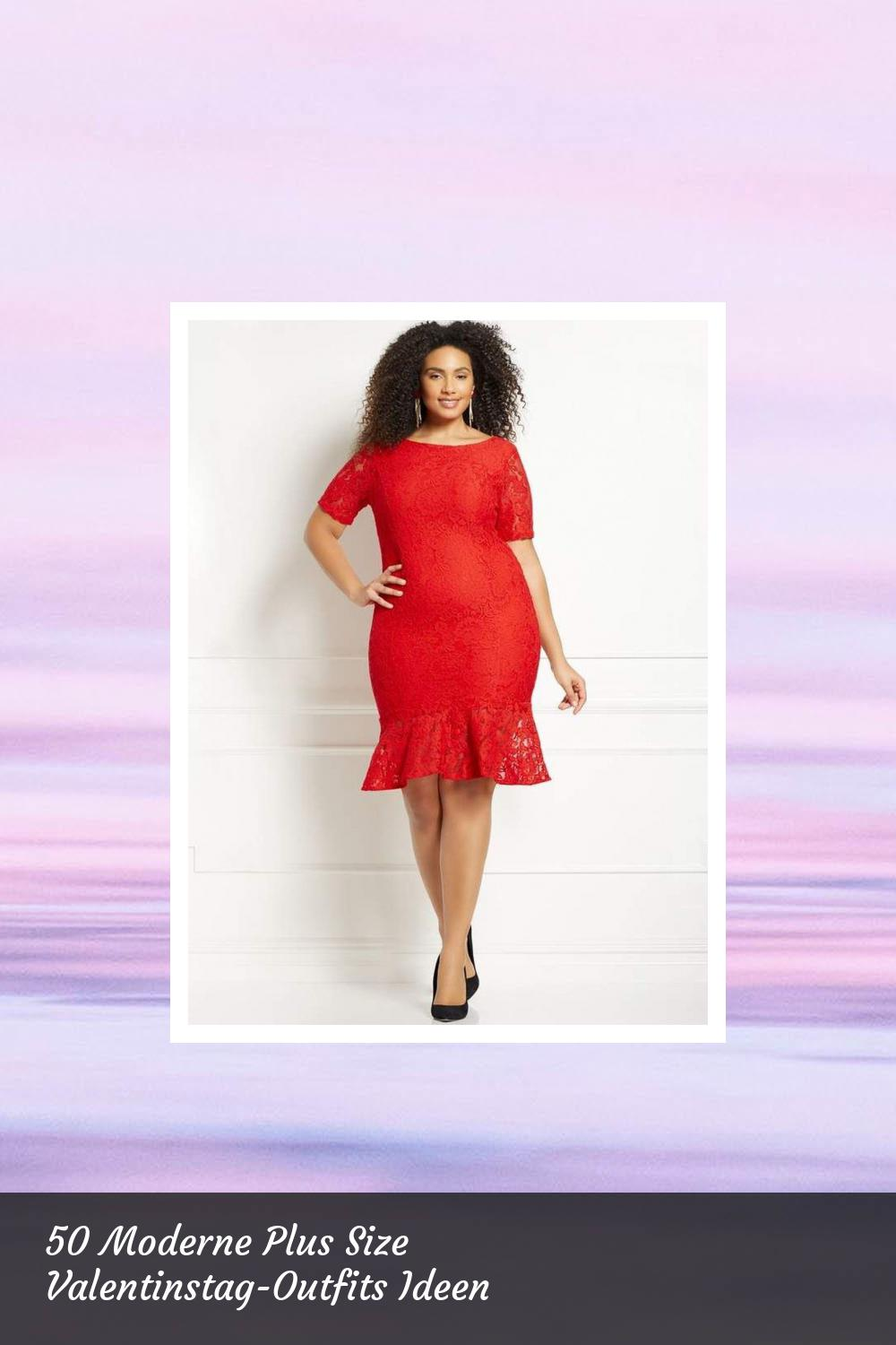 50 Moderne Plus Size Valentinstag-Outfits Ideen 25