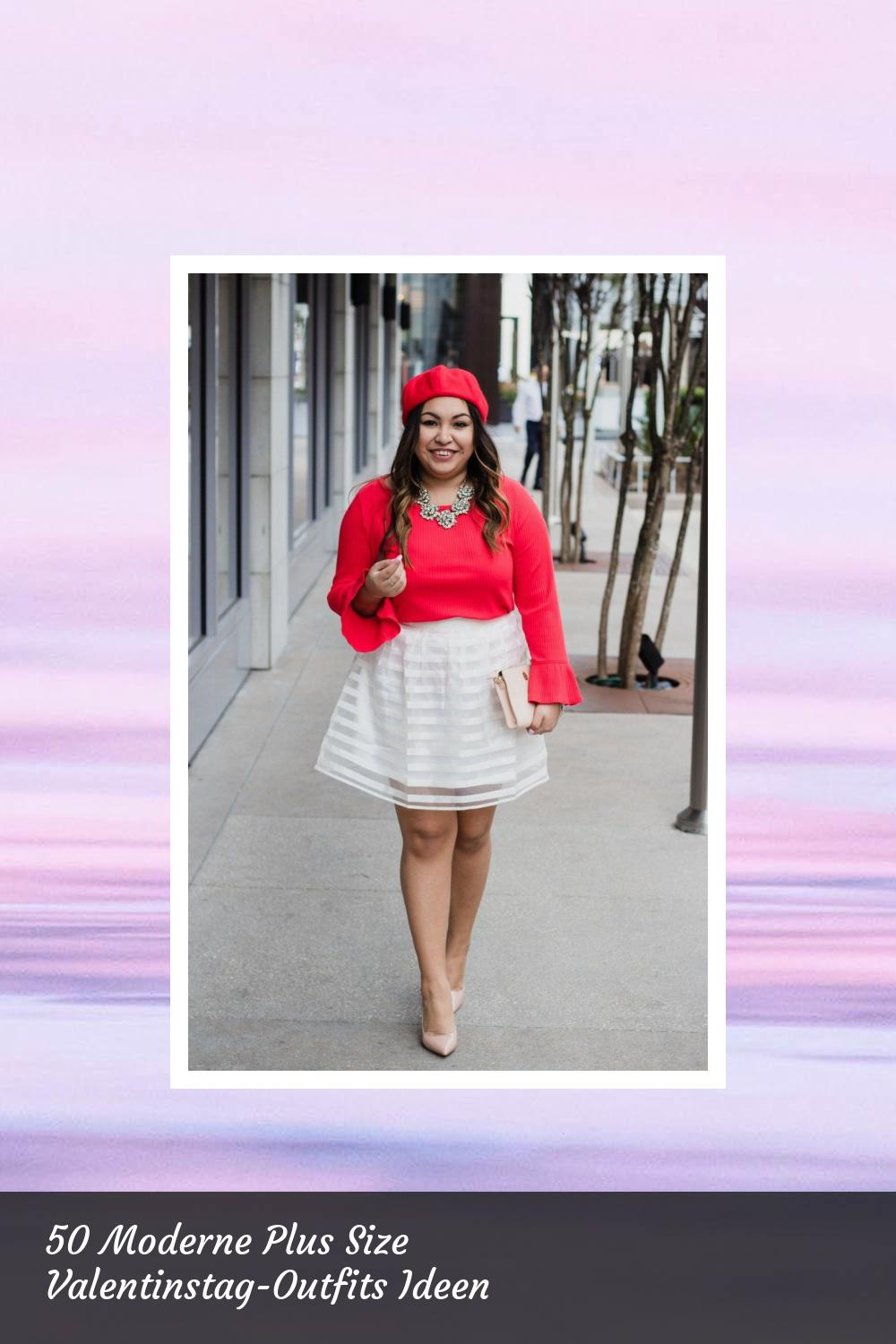 50 Moderne Plus Size Valentinstag-Outfits Ideen 26