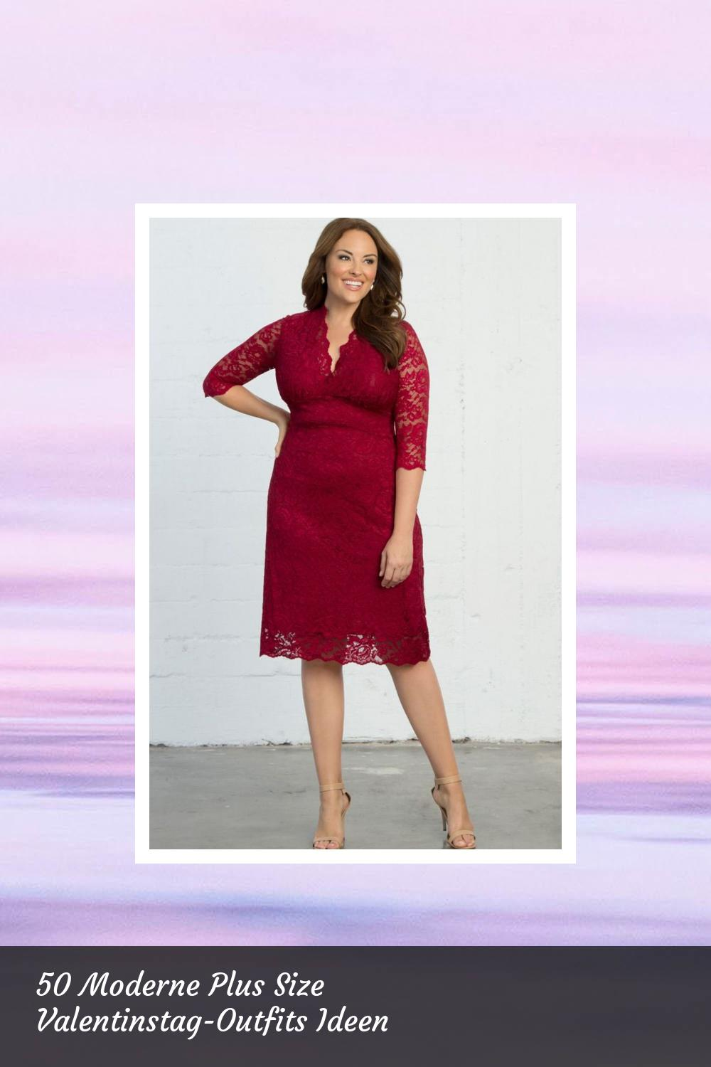 50 Moderne Plus Size Valentinstag-Outfits Ideen 27