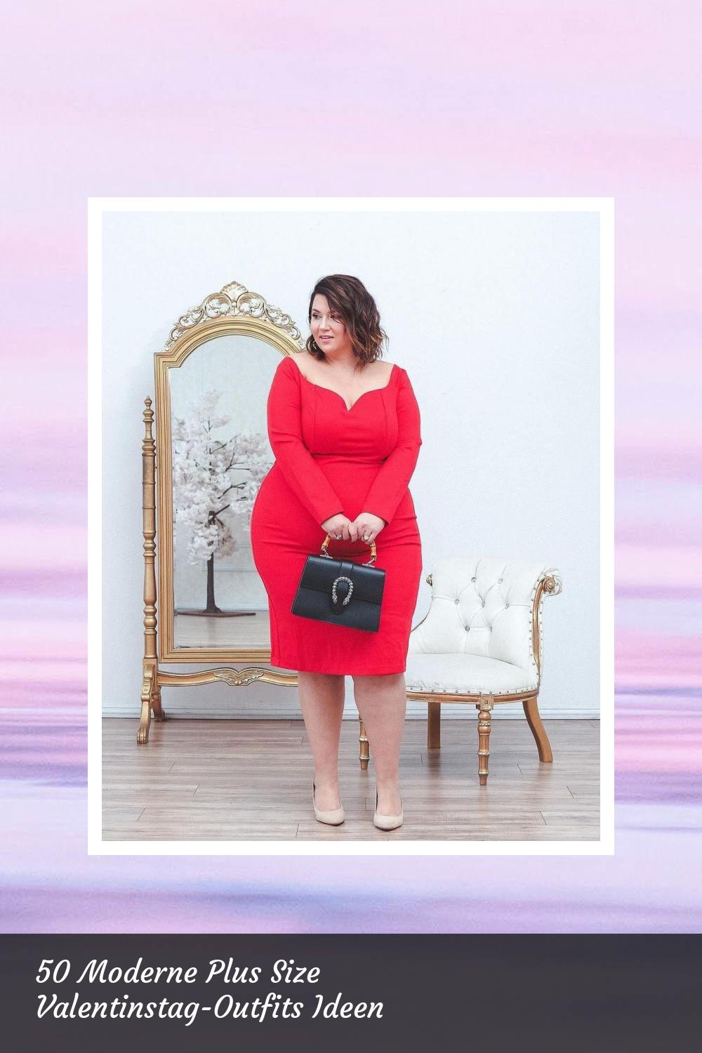 50 Moderne Plus Size Valentinstag-Outfits Ideen 3