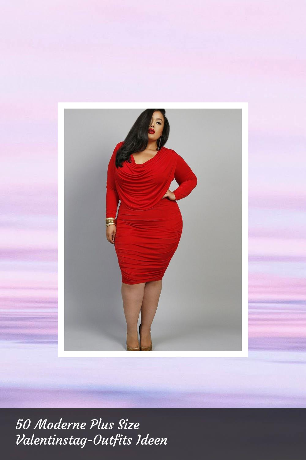50 Moderne Plus Size Valentinstag-Outfits Ideen 31