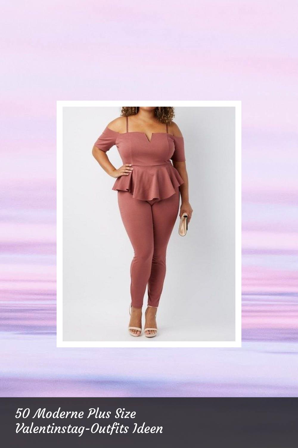 50 Moderne Plus Size Valentinstag-Outfits Ideen 34
