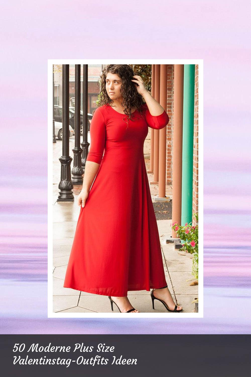 50 Moderne Plus Size Valentinstag-Outfits Ideen 39