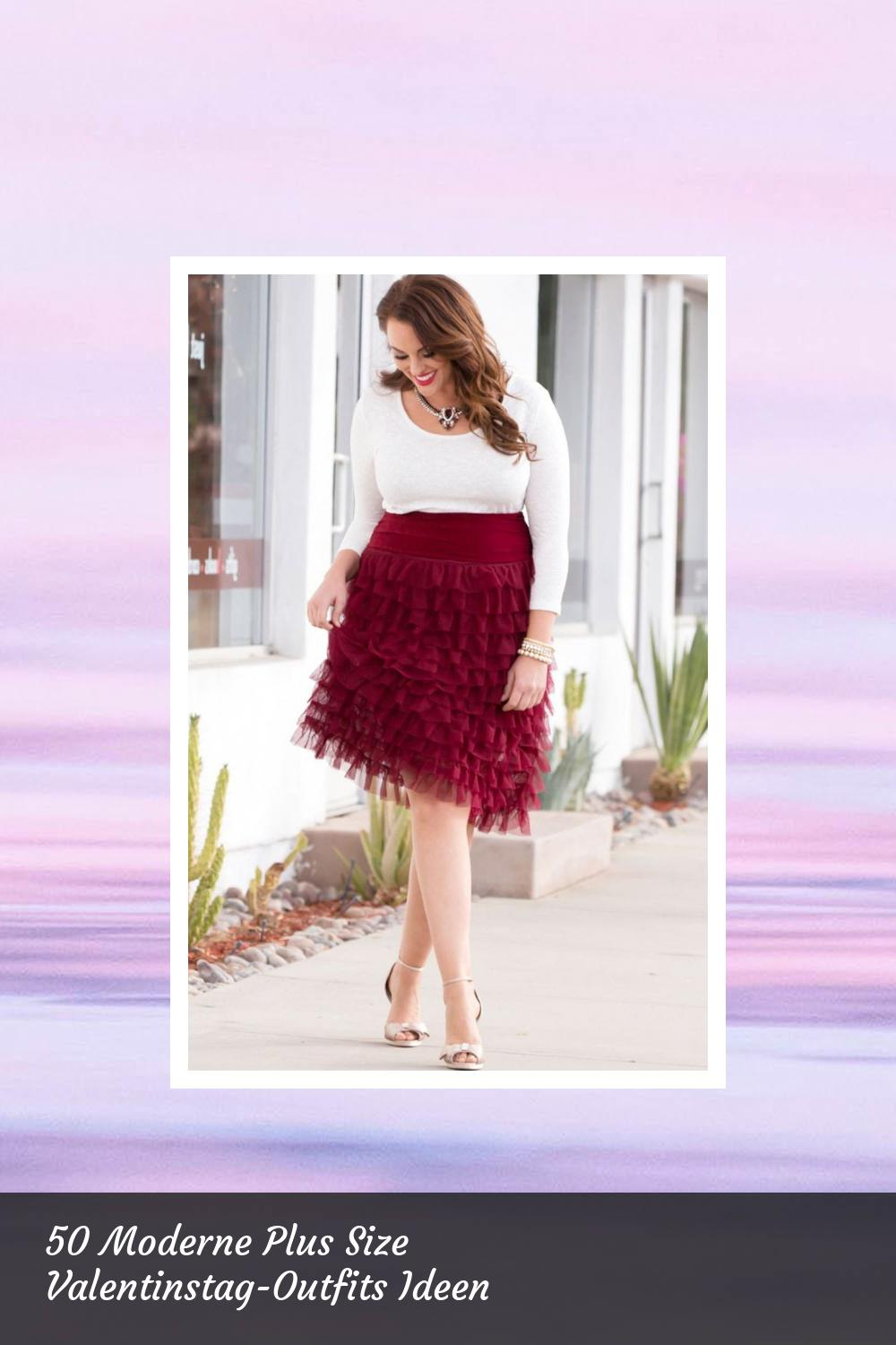 50 Moderne Plus Size Valentinstag-Outfits Ideen 42