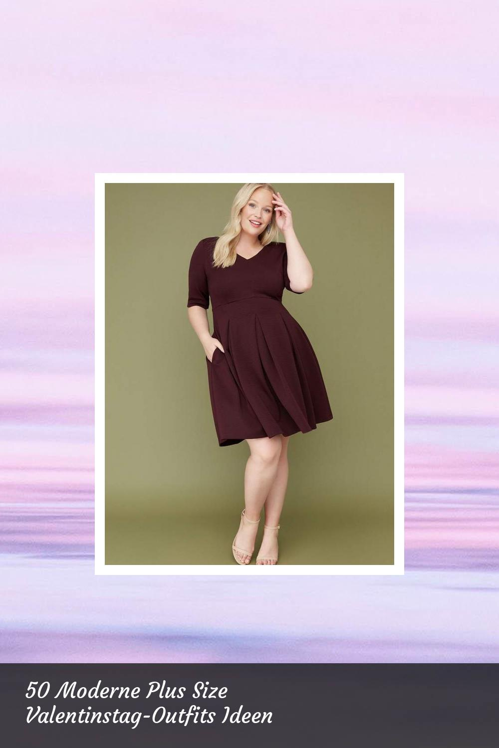 50 Moderne Plus Size Valentinstag-Outfits Ideen 43