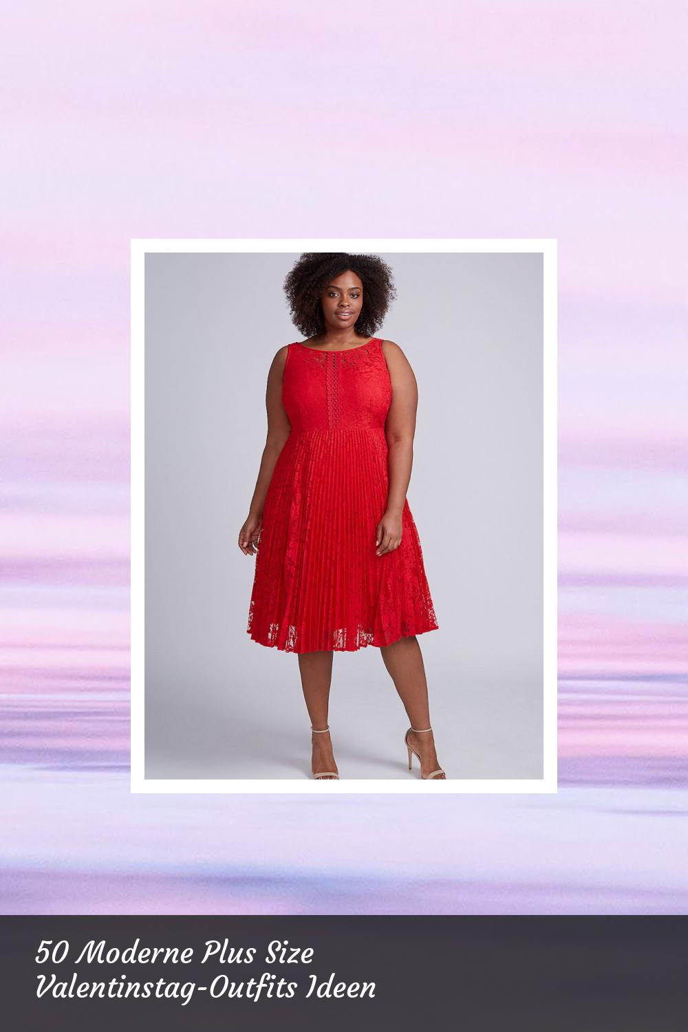 50 Moderne Plus Size Valentinstag-Outfits Ideen 44