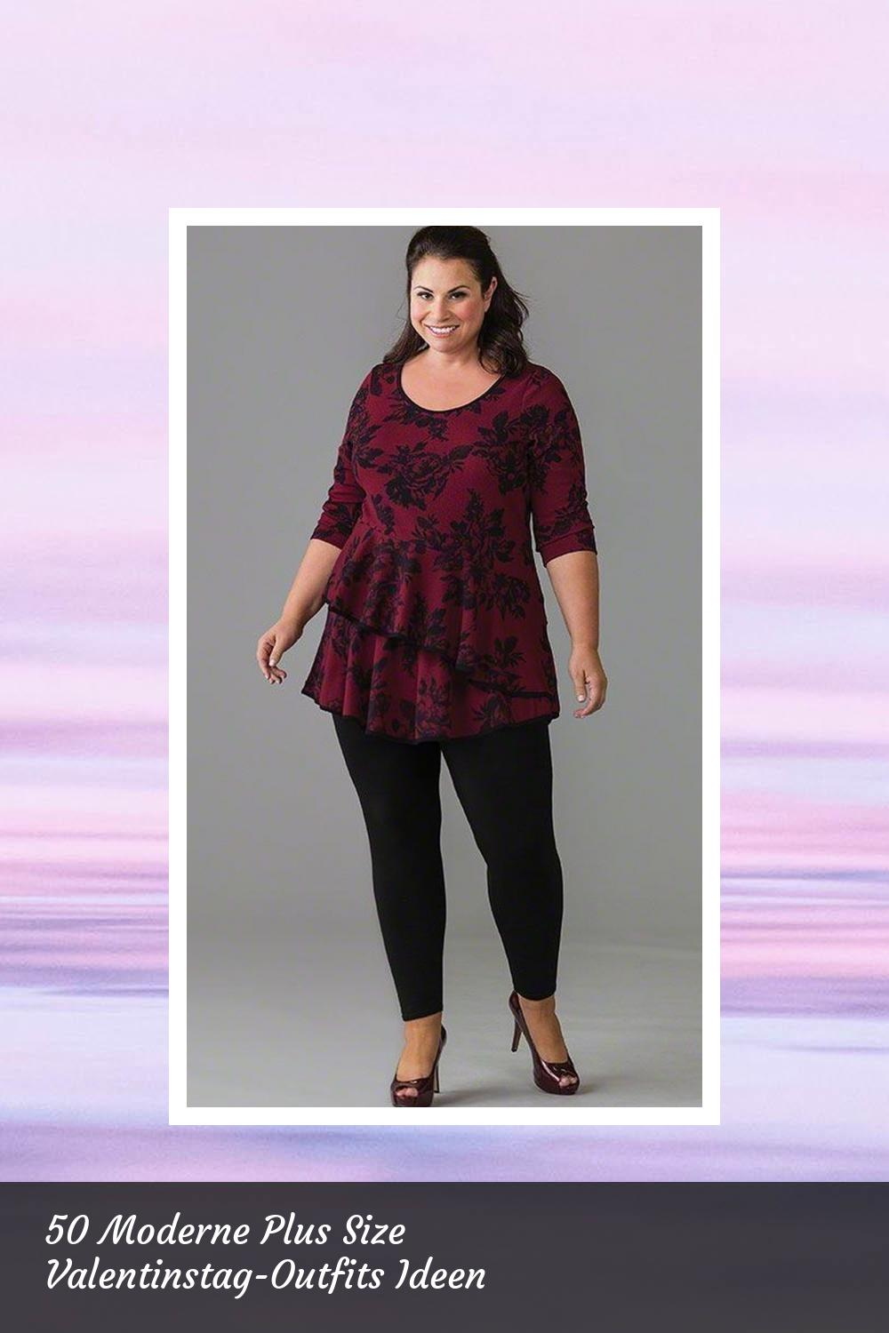 50 Moderne Plus Size Valentinstag-Outfits Ideen 48