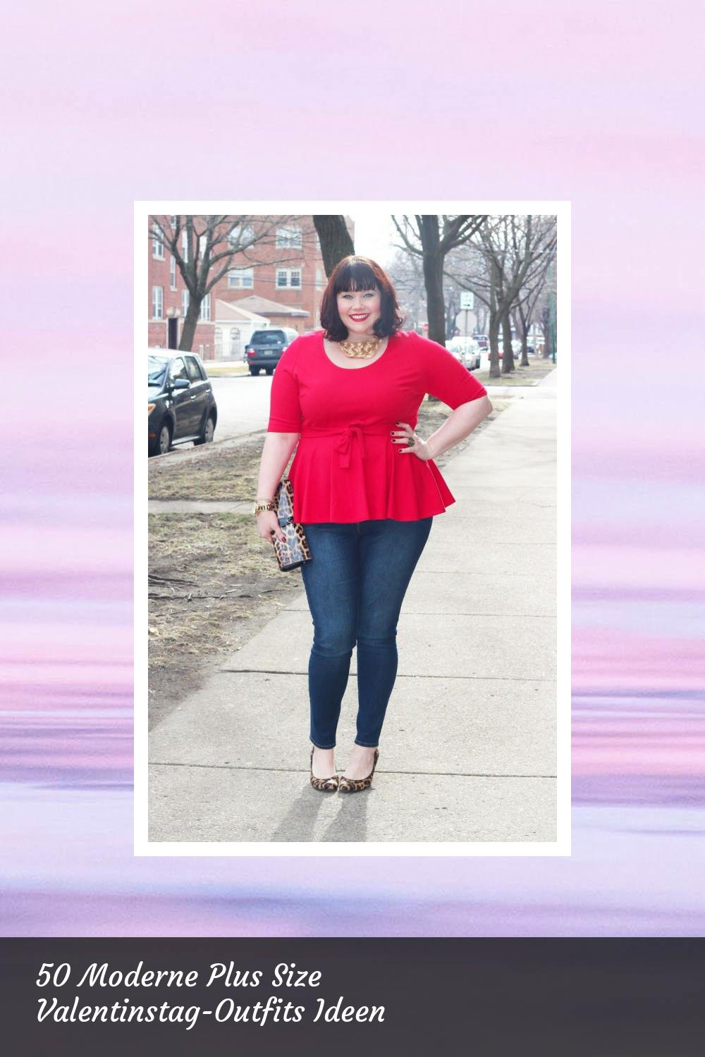 50 Moderne Plus Size Valentinstag-Outfits Ideen 53