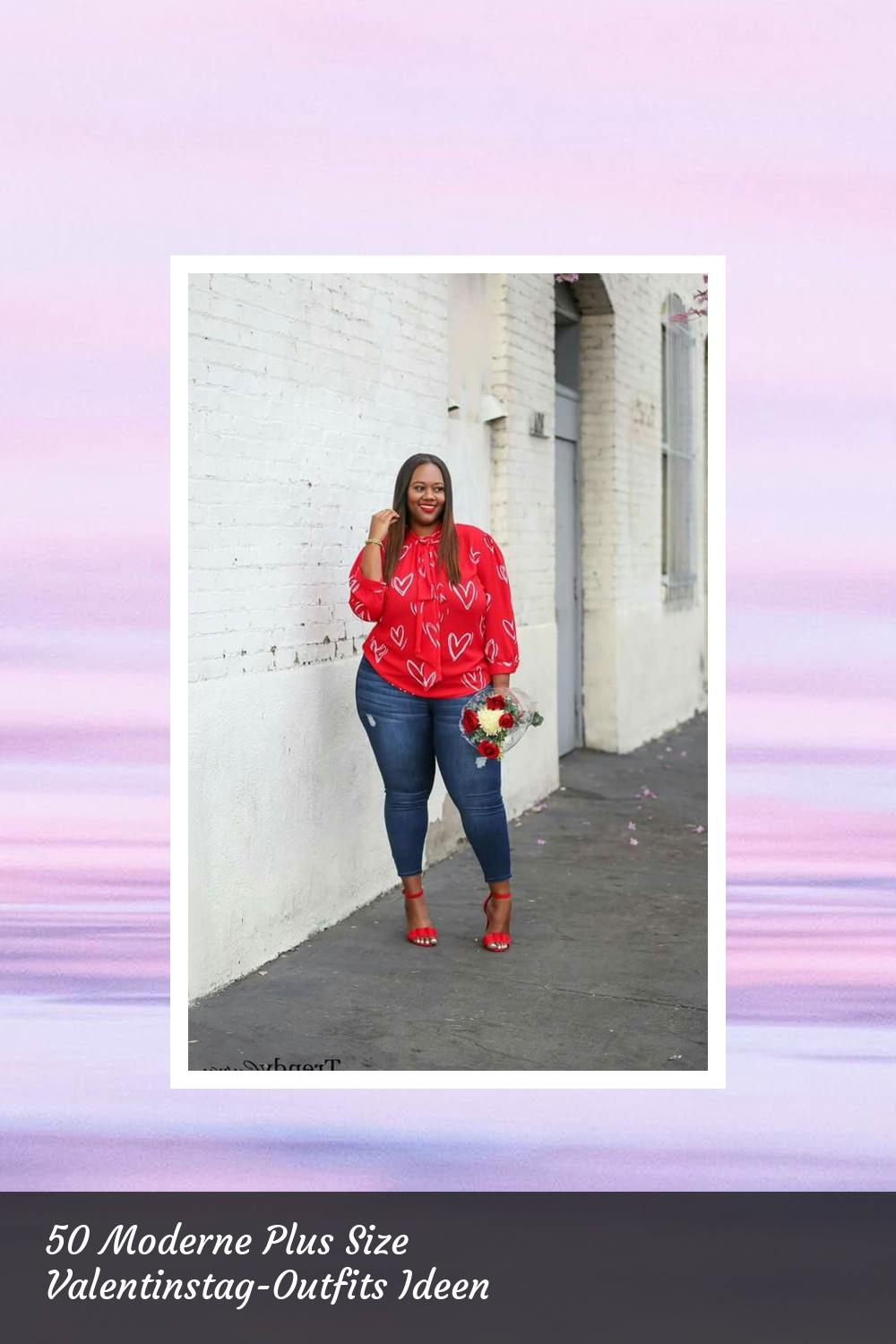 50 Moderne Plus Size Valentinstag-Outfits Ideen 56