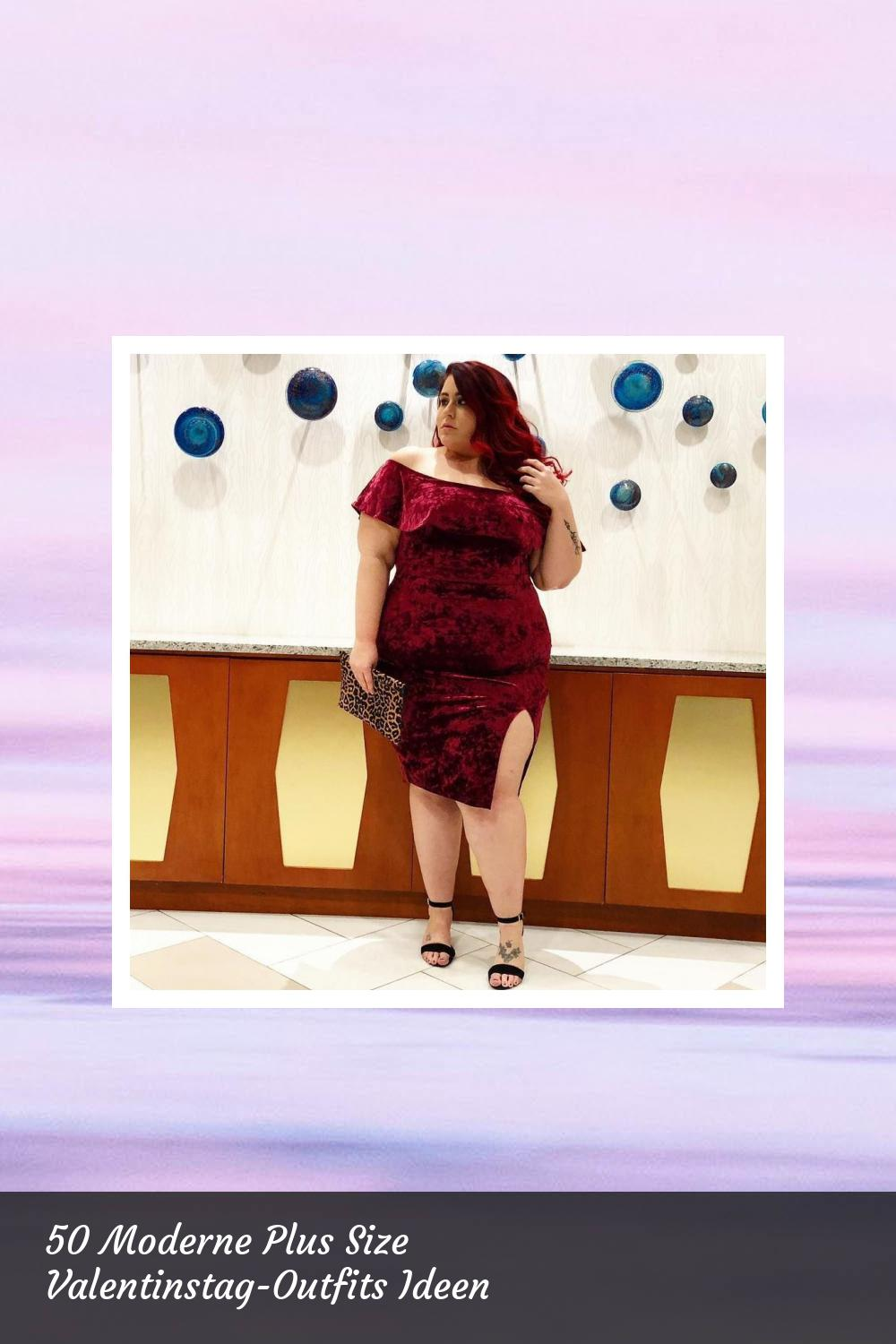 50 Moderne Plus Size Valentinstag-Outfits Ideen 9